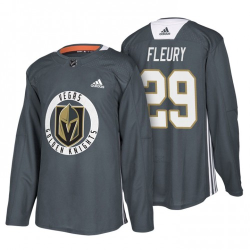 Golden Knights Vegas Jersey Season Fleury New Marc-andre 29 Practice Gray