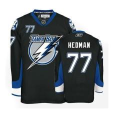 Lightning #77 Victor Hedman Black Premier Jersey