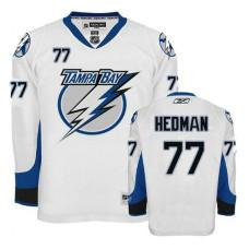 Lightning #77 Victor Hedman White Premier Jersey