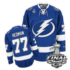 Tampa Bay Lightning Victor Hedman #77 Blue 2016 Stanley Cup Home Finals Jersey