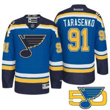 St. Louis Blues Vladimir Tarasenko #91 Blue 50th Anniversary Jersey