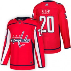 Washington Capitals #20 Lars Eller Red 2018 New Season Home Authentic Jersey With Anniversary Patch