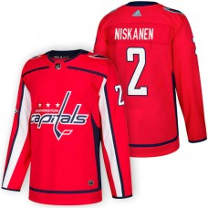 Washington Capitals #2 Matt Niskanen Red 2018 New Season Home Authentic Jersey With Anniversary Patch