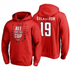 Washington Capitals #19 Nicklas Backstrom Red 2018 Stanley Cup Playoffs Hoodie