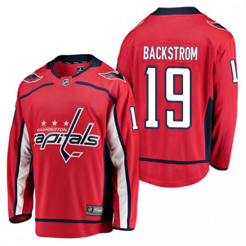 Washington Capitals  19 Breakaway Player Nicklas Backstrom Jersey Red 435891984f5