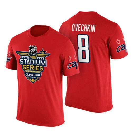9f265636e5a Washington Capitals #8 Alex Ovechkin Red 2018 Stadium Series T-shirt
