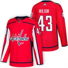 Washington Capitals #43 Tom Wilson Red 2018 New Season Home Authentic Jersey With Anniversary Patch