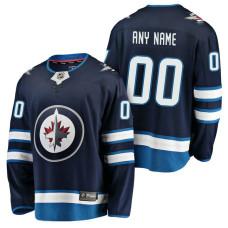 Winnipeg Jets 2018 Fanatics Branded Custom Jersey Navy
