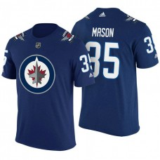 Winnipeg Jets #35 Steve Mason Navy Adidas Player Jersey Style T-shirt