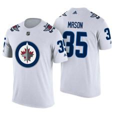 Winnipeg Jets #35 Steve Mason White Adidas Player Jersey Style T-shirt