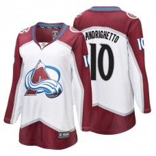 Women's Colorado Avalanche #10 Sven Andrighetto Fanatics Branded Breakaway White Away jersey