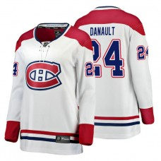 Women's Montreal Canadiens #24 Phillip Danault Fanatics Branded Breakaway White Away jersey