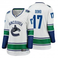 Women's Vancouver Canucks #17 Nic Dowd Fanatics Branded Breakaway White Away jersey