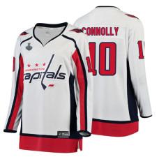 Women's Washington Capitals #10 Brett Connolly 2018 Stanley Cup Final Breakaway Away White Jersey