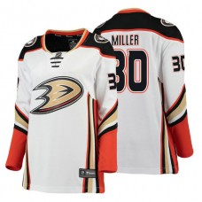 Women's Anaheim Ducks #30 Ryan Miller 2018 Fanatics Branded Breakaway White Away jersey