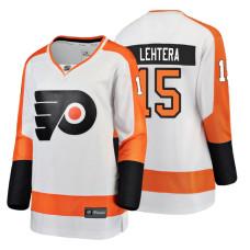 Women's Philadelphia Flyers #15 Jori Lehtera Fanatics Branded Breakaway White Away jersey