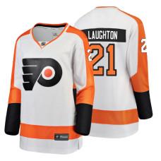 Women's Philadelphia Flyers #21 Scott Laughton Fanatics Branded Breakaway White Away jersey