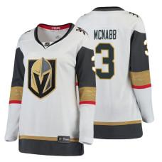 Women's Vegas Golden Knights #3 Brayden McNabb Fanatics Branded Breakaway White Away jersey