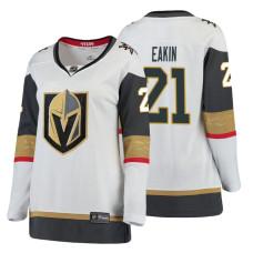 Women's Vegas Golden Knights #21 Cody Eakin Fanatics Branded Breakaway White Away jersey