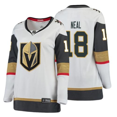 Women's Vegas Golden Knights #18 James Neal Fanatics Branded Breakaway White Away jersey