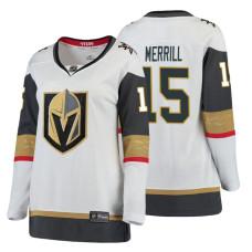 Women's Vegas Golden Knights #15 Jon Merrill Fanatics Branded Breakaway White Away jersey