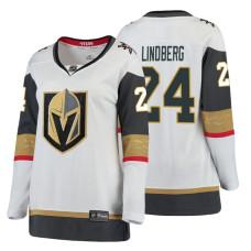 Women's Vegas Golden Knights #24 Oscar Lindberg Fanatics Branded Breakaway White Away jersey