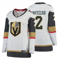 Women's Vegas Golden Knights #2 Zach Whitecloud Fanatics Branded Breakaway White Away jersey