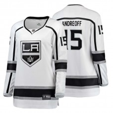 Women's Los Angeles Kings #15 Andy Andreoff Fanatics Branded Breakaway White Away jersey