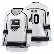 Women's Los Angeles Kings #10 Tobias Rieder Fanatics Branded Breakaway White Away jersey