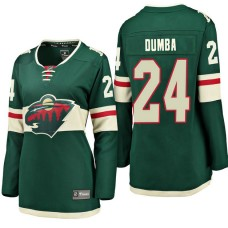 Women's #24 Matt Dumba Green Breakaway Fanatics branded Jersey Minnesota Wild