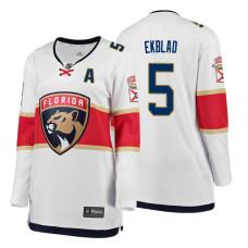 Women's Florida Panthers #5 Aaron Ekblad Alternate Breakaway Player White Away jersey