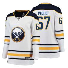 Women's Buffalo Sabres #67 Benoit Pouliot 2018 Fanatics Breakaway White Away jersey