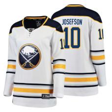 Women's Buffalo Sabres #10 Jacob Josefson 2018 Fanatics Breakaway White Away jersey