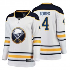 Women's Buffalo Sabres #4 Josh Gorges 2018 Fanatics Breakaway White Away jersey