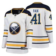 Women's Buffalo Sabres #41 Justin Falk 2018 Fanatics Breakaway White Away jersey