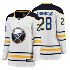 Women's Buffalo Sabres #28 Zemgus Girgensons 2018 Fanatics Breakaway White Away jersey