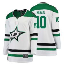 Women's Dallas Stars #10 Martin Hanzal Fanatics Branded Breakaway White Away jersey