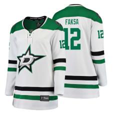 Women's Dallas Stars #12 Radek Faksa Fanatics Branded Breakaway White Away jersey