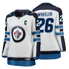 Women's Winnipeg Jets #26 Blake Wheeler Fanatics Branded Breakaway White Away jersey