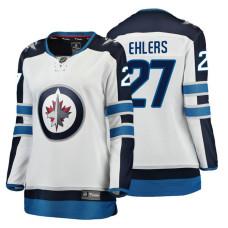 Women's Winnipeg Jets #27 Nikolaj Ehlers Fanatics Branded Breakaway White Away jersey