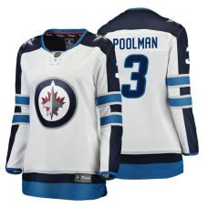 Women's Winnipeg Jets #3 Tucker Poolman Fanatics Branded Breakaway White Away jersey