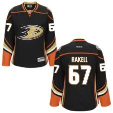Women's Anaheim Ducks Rickard Rakell #67 Black Premier Home Jersey