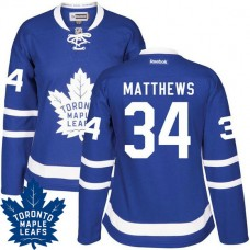 Women's Auston Matthews #34 Toronto Maple Leafs Royal Blue Premier Home Jersey
