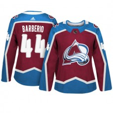 Women's Colorado Avalanche #44 Mark Barberio Maroon Adizero Player Home Jersey