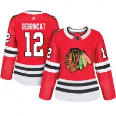 Women's Chicago Blackhawks #12 Alex DeBrincat Red Adizero Player Home Jersey