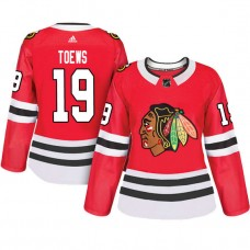Women's Chicago Blackhawks #19 Jonathan Toews Red Adizero Player Home Jersey