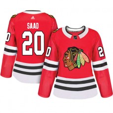 Women's Chicago Blackhawks #20 Brandon Saad Red Adizero Player Home Jersey