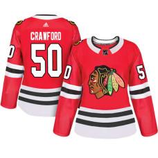 Women's Chicago Blackhawks #50 Corey Crawford Red Adizero Player Home Jersey