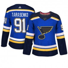 Women's St. Louis Blues #91 Vladimir Tarasenko Blue Adizero Player Home Jersey