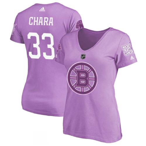 promo code 6604c d6d7e Women's Boston Bruins Purple Zdeno Chara #33 Hockey Fights ...